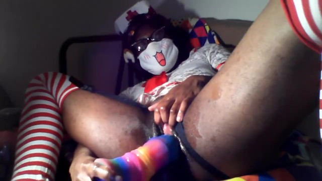 Sexy hermaphrodite videos Sexy nirse has first time using a giant rainbow horse cock vaginal