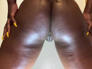 Femdom ass slave following motion...