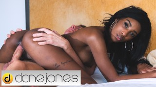 Dane Jones Ebony British babe Asia Rae can't get enough of his big dick
