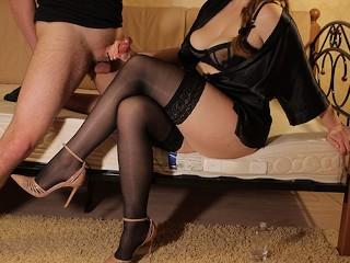 Heel sex stocking video