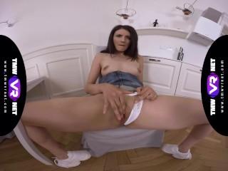 TmwVRnet – Tiny Tina – Solo orgasm on a kitchen chair