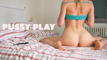 Gorgeous Blonde Teen Dildo Ride 4K HD