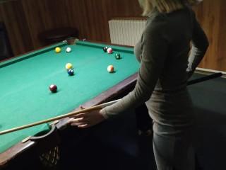 Hard fast pool table public sex 60fps 1080...