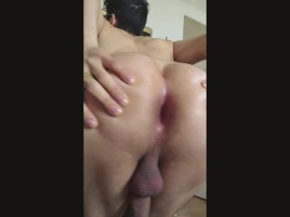 Pmv big booty male dances and spreads his...