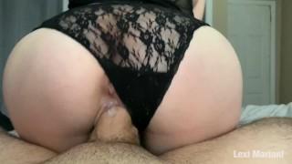 Fucking a curvy MILF after she massages my dick - big cumshot