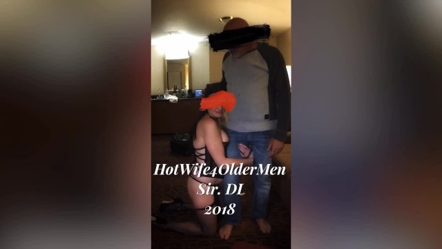 Submissive sex tubes - Submissive hotwife used by older bull in front of cuckold husband