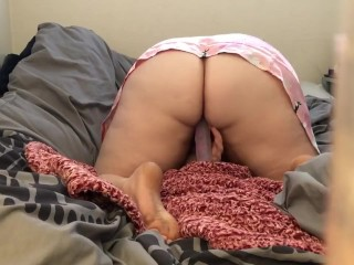 First time on 10 inch dildo