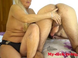 Grandma milks cock step grandson 70 granny is...