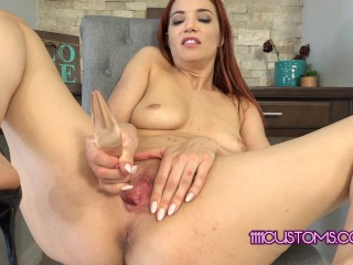 1111customs 4k redhead jayden cole does joi and...