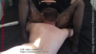 Miss M. masturbates in front of her locked and denied slave!