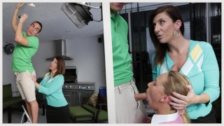 BANGBROS – Stepmom MILF Sara Jay Threesome With Step Daughter Carter Cruise