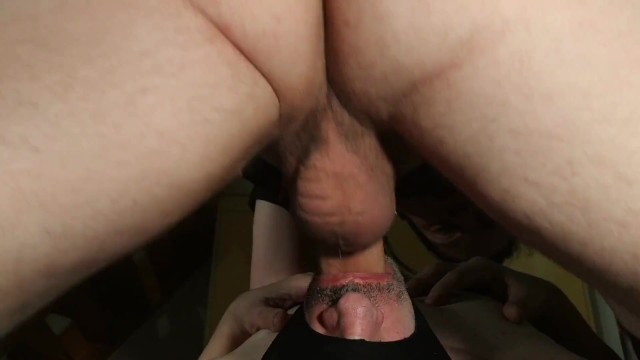 So gay porn videos Facefucking my throat slave so hard that he almost throw up hd