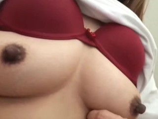 Horny wife shows off her long...