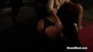 Betrayed Cargo: Big Ass Spanking For Naked Lesbian Slave By Dominant Madame