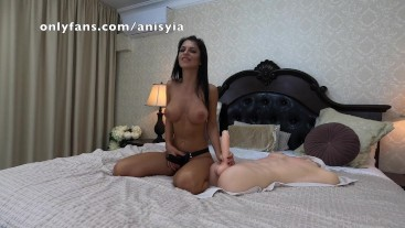 anisyia strap-on, dominating and fucking him