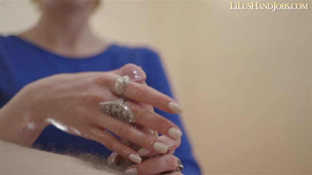 Hand job tumbnails Sexy natural long white nails handjob - huge cumshot _ lilushandjobs