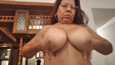 BBW Goddess shows her Big Tits and Big Ass to her worshipers