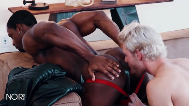 Gay bound porn - Noirmale - white boy gets bounded by black jock