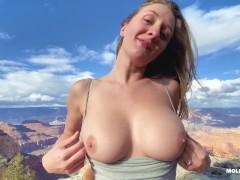 EPIC Grand Canyon Adventure Sex - Molly Pills - Public Nature Creampie POV