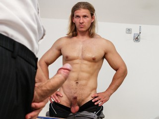 """BIG DADDY - Body Builder """"Blazk"""" Gets His Ass Blasted By Denis Reed"""