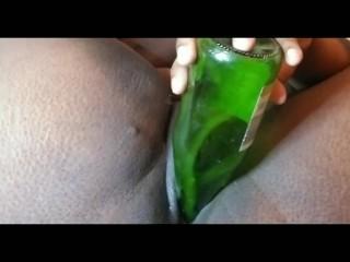 Fucked by a wine bottle til I cream