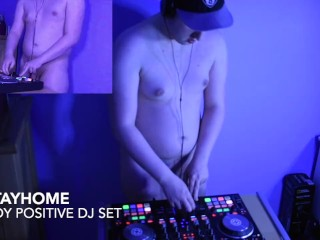 DJ Quarantine spins some house music with hot flaccid cock