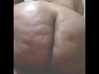 50 year old grandma showing off her fat ass