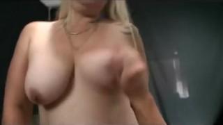 Mature blonde smokes and rides