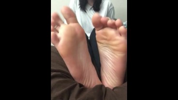 Princess teases you about your foot fetish with Her stinky smelly feet!