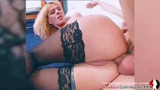 Hot German MILF lets stranger bang her in ass