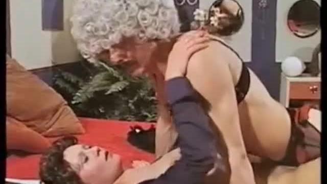 Transvestite wearing false boobs The transvestite