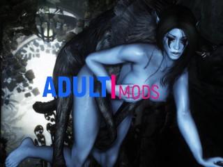 Ice monster attacked elf girl skyrim monster 3...