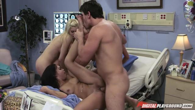 DigitalPlayground - Nurse orgy with Selena Santana , Riley Steele, Kayden K 19