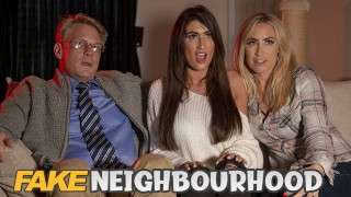 FakeHub - Busty MILFs Karlie Simon & Princess Jasmine sharing cock in 3some