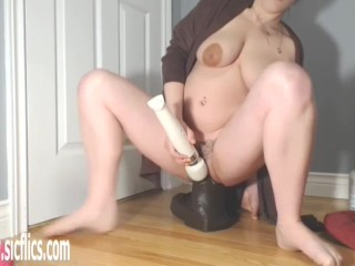Colossal Dildos Wreck Her Greedy Pussy