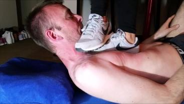 Very Hard Trampling with Nike Sneaker