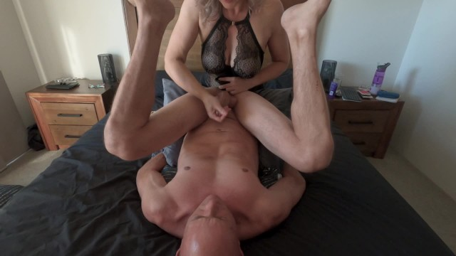Fed his own cum - Taste of his own cum from incredible edging prostate massage min moo