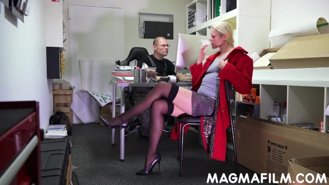 Tranny boss lingeria sex clips Cnfm german boss bosses her staff around for sex
