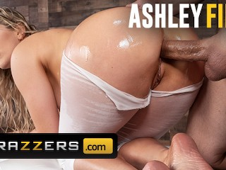 Brazzers - Thicc Ashley fires get ass fucked through yoga pants all sex video