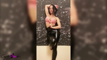 Brunette Dancing, Fingering Pussy and Fucking Dildo after Sports Training