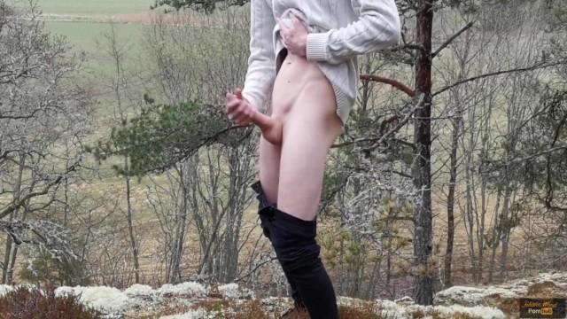 Exhibitionist Boy Shoots a Massive Load Outdoor - Johann Wood