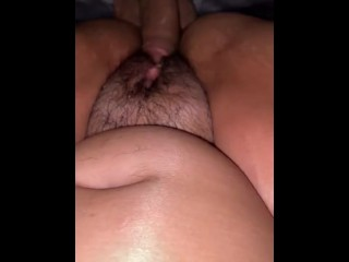Boyfriend playing with my pussy with his dick and putting his dick inside.