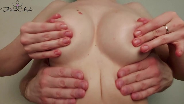 Teens oil Boyfriend and girl oil massage perfect boobs after college