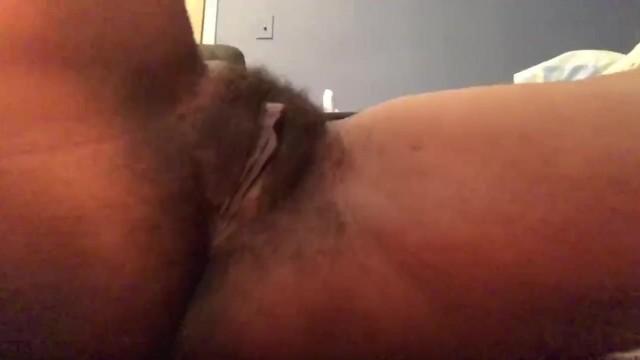 Ebony Goddess  plays with hairy Pussy 14