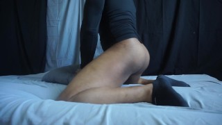 HARD ORGASM: fucking my pillow and pocket pussy with dirty talk till I cum