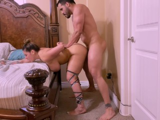 Big Ass MILF sweetly begs for Rough Anal while he was fucking her pussy