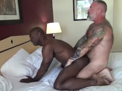 Black Muscle Stud Flip Fucks Tattooed Silver Daddy