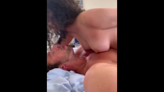 Two hot college girls take turns riding a big thick cock