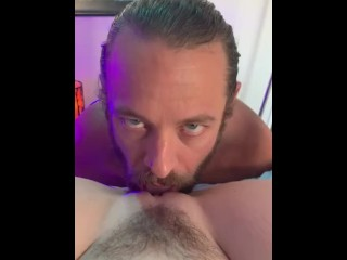 Big cock hero licks pussy until he has no choice but to cum cover it