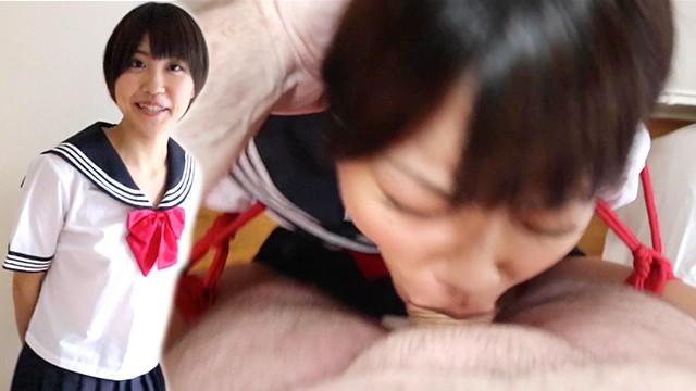 Bondage abduction Japanese school girl miko kurozuki gets bondage and rough facefucking